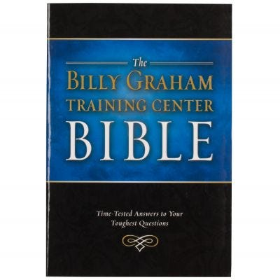 The Billy Graham Training Center Bible - NKJV (Paperback)