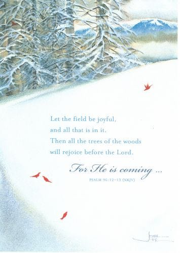 Joni Christmas Card: The Lord Has Come - 16 cards, 17 envelopes