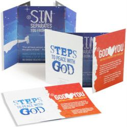 Steps To Peace With God Folding Card - Pack of 25