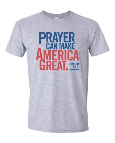 Pray for America T-shirt – Stacked Design