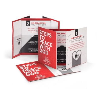 Steps to Peace Folding Card 2020 Version - Packs of 25